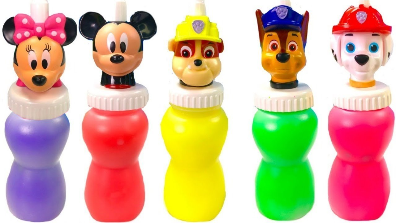 Opening Paw Patrol and Mickey Mouse Slime - YouTube