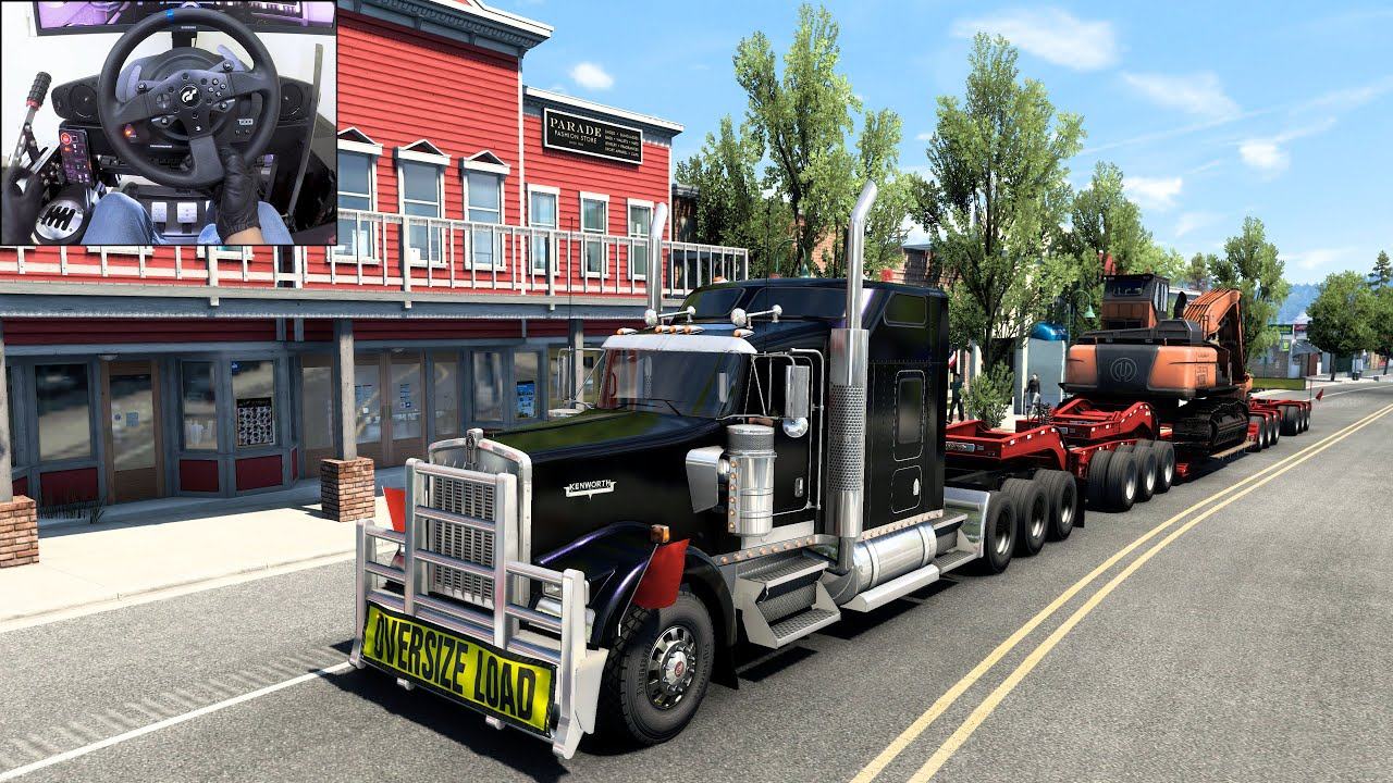 Straight Piped Kenworth W900 - American Truck Simulator | Thrustmaster T300RS
