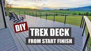 A Trex Deck Transformation   How To Build A Deck   Framing   Stairs   Privacy Wall   Cable Railing