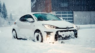 NEW Toyota GR Yaris LOVES The Snow!
