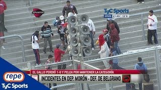 Incidentes en la cancha de Deportivo Morón (HD)