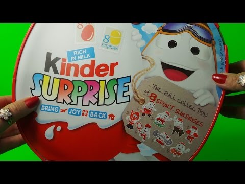 Kinder Duty Free Airport 8 X Full World Surprise Egg Sports Set Unboxing