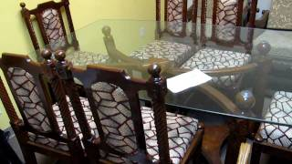 Hand Carved Furniture Dining Table Made In India .mov