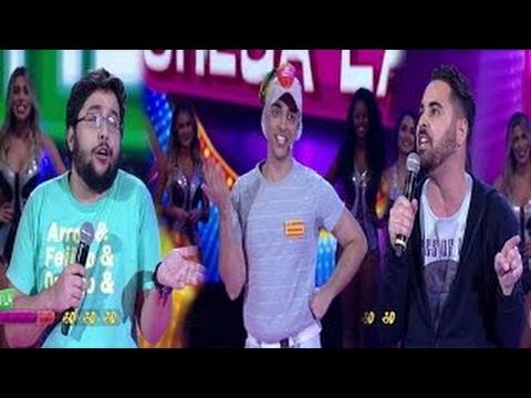 Comediantes conta piadas Pra Rir MuitoQuem chega lá está no palco do Domingão 0503