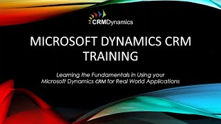 Microsoft Dynamics CRM 2015 Training: Workflow Basics (26:56)