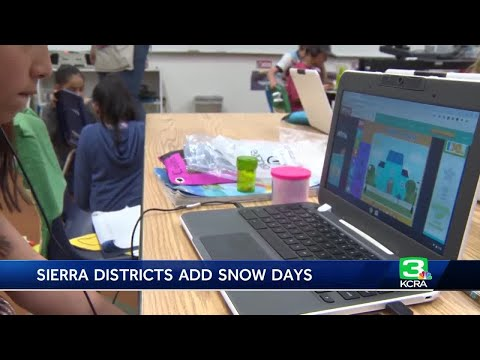 Sierra schools still still in session as they make up snow days