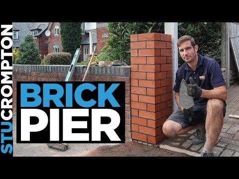 Bricklaying - Building a Brick Pier