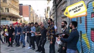 Oy Naze Naze Halay. Taksim İstiklal Caddesi Halayla Güzelleşti. Zana Zendo \u0026 İzzet Bakur. HD