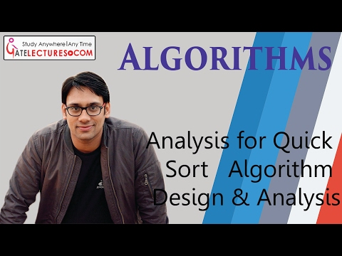 Time Complexity Analysis for Quick Sort   Algorithm Design & Analysis