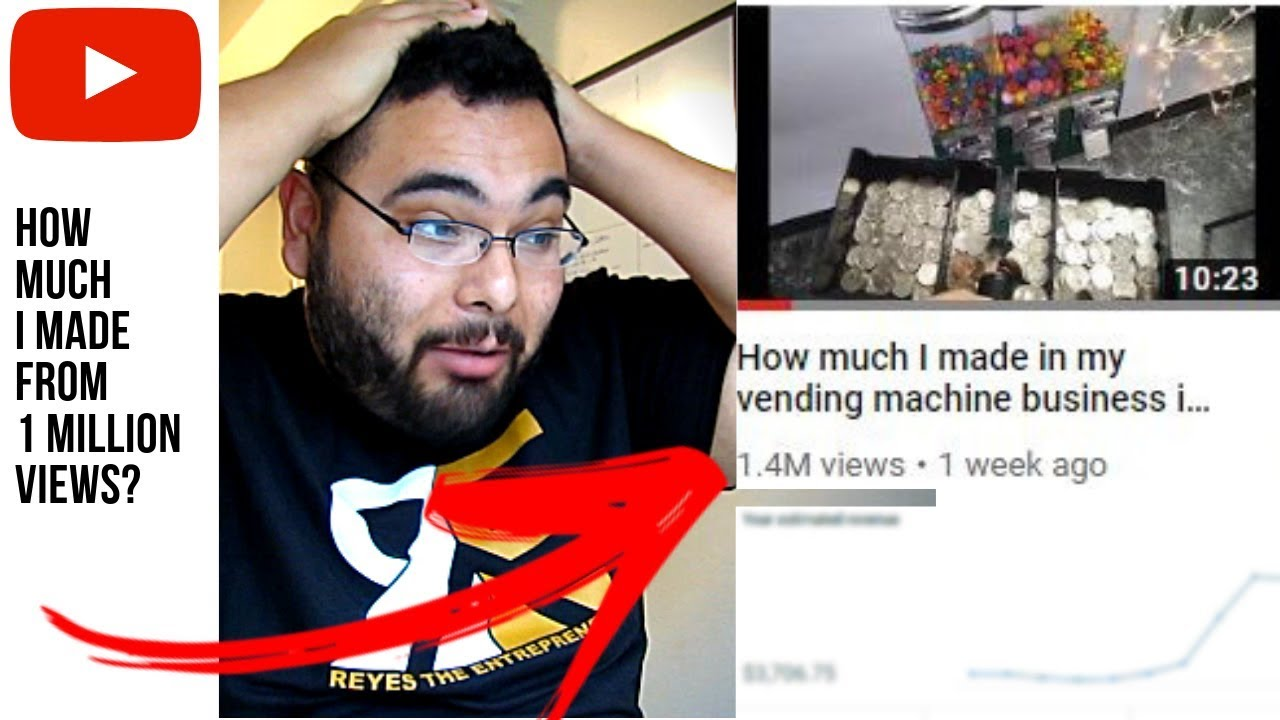 how much youtube paid me for a 1 million viewed video