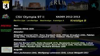 CSV Olympia 97 II Kader 2012-13 Kreisliga B 5.Abteilung