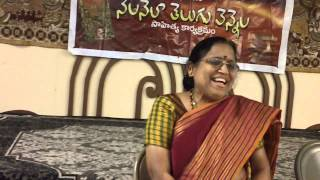 Ponnapalli Jayasri presents her contributions to Telugu literature