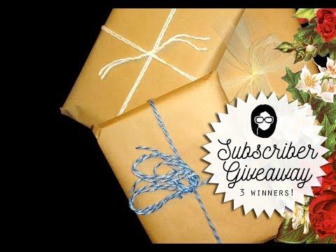 3,000 Susbcriber Giveaway! Win 1 of 3 junk journals!