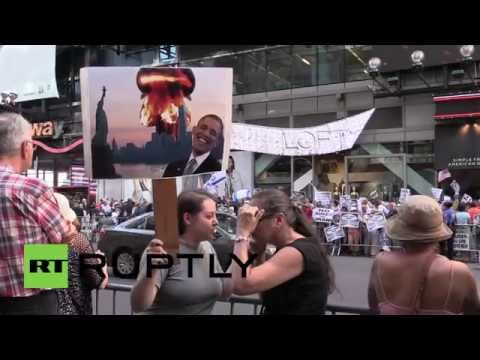 USA: Pro-Israelis protest Iran nuclear deal in NYC