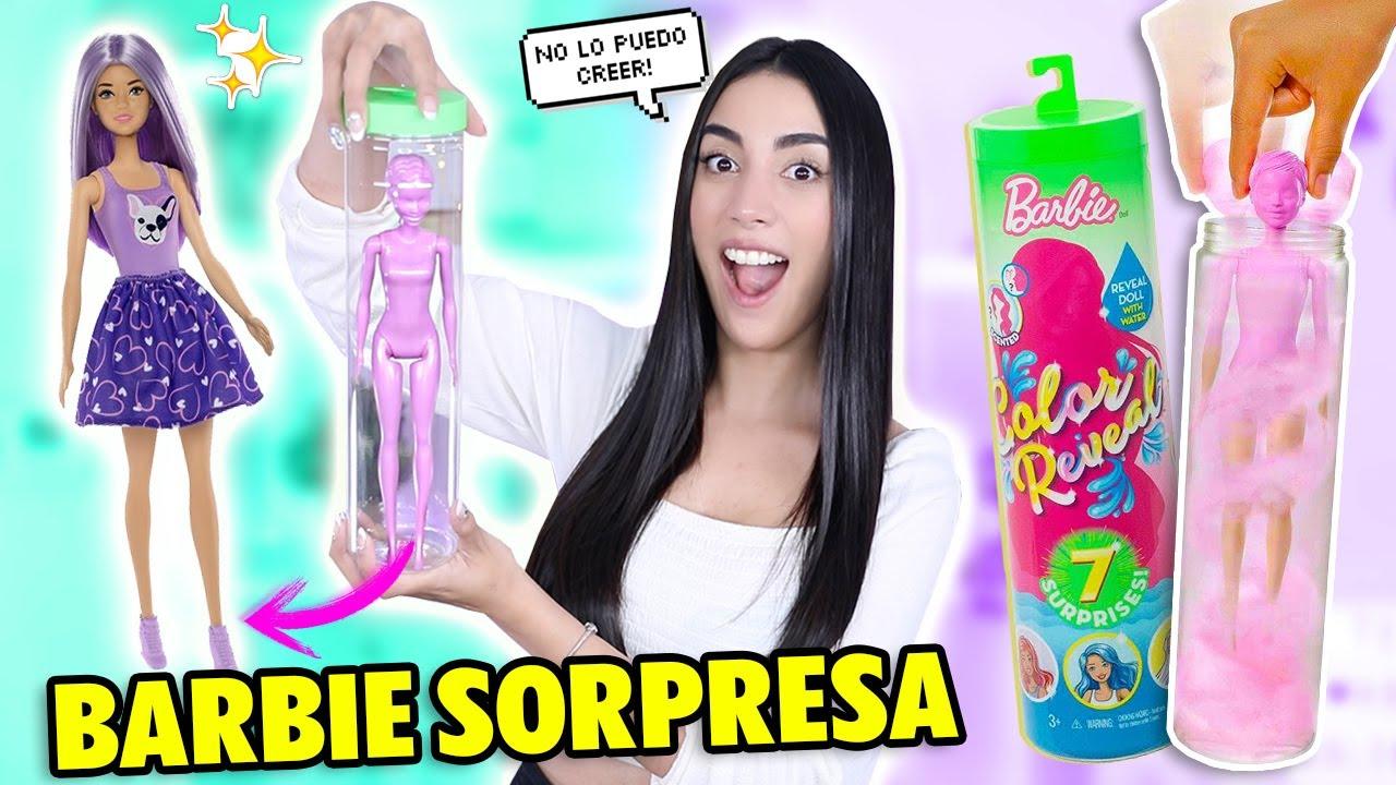 PROBANDO LAS BARBIES MÁGICAS 😱💞 ¿REALMENTE FUNCIONA? Barbie COLOR REVEAL | Claudipia