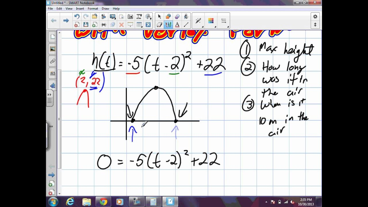 Problem Solving with Quadratics Grade 10 Academic Lesson 4 5 10 30 ...