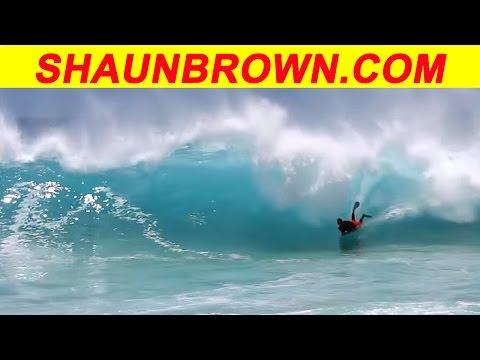 Sandy Beach big bodyboard waves on May 19, 2013