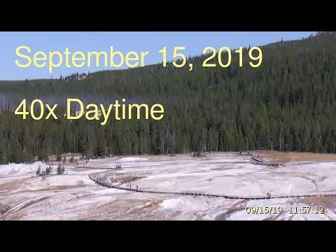 September 15, 2019 Upper Geyser Basin Daytime Streaming Camera Captures
