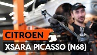 Kā nomainīt aizmugurējie stabilizatora atsaite CITROEN XSARA PICASSO (N68) [AUTODOC VIDEOPAMĀCĪBA]