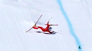 High Speed Ski Crash in 4K - Simon Billy Vars 2017 from the 245kmh start.