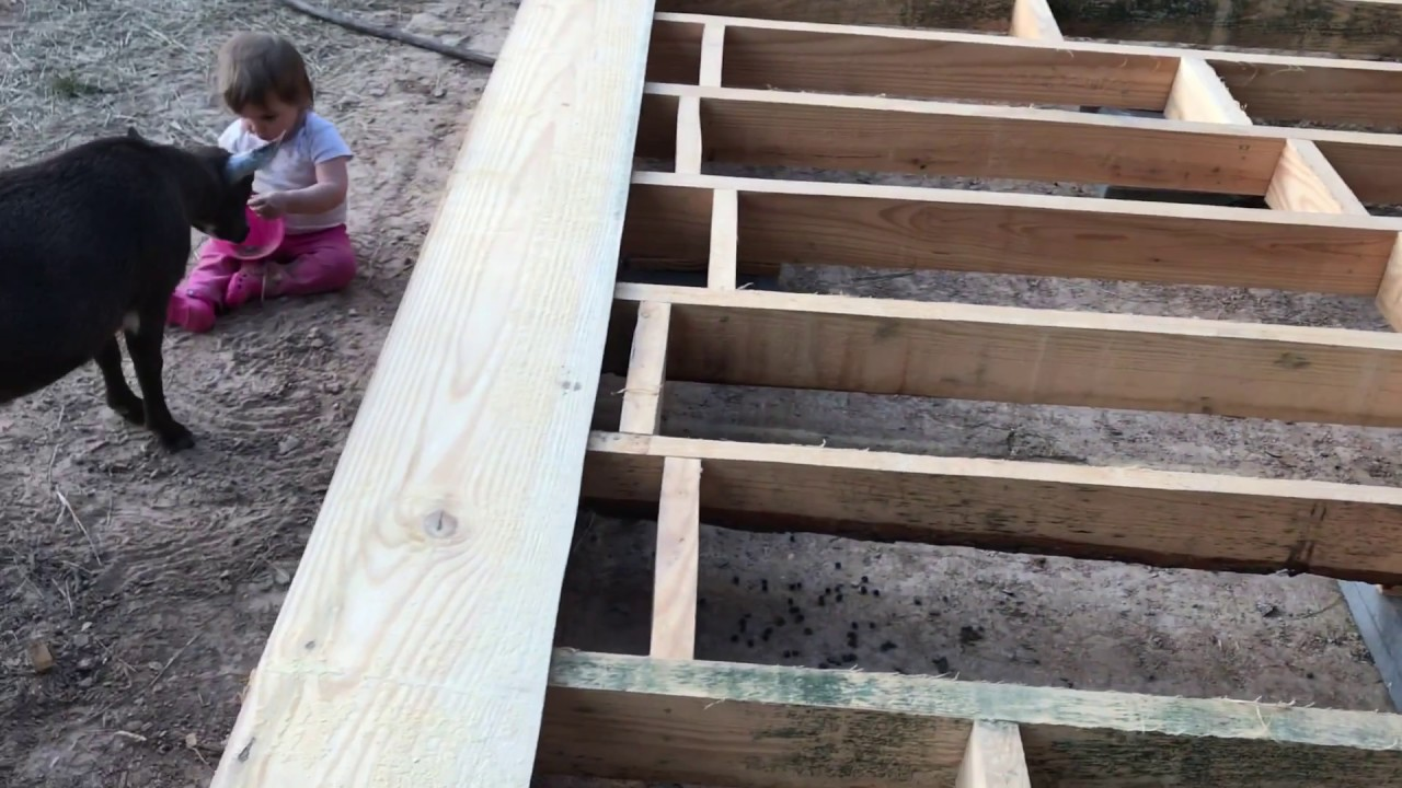 Cross Bracing And Leveling The Barn