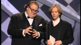 Chris Farley and David Spade at the Oscars®