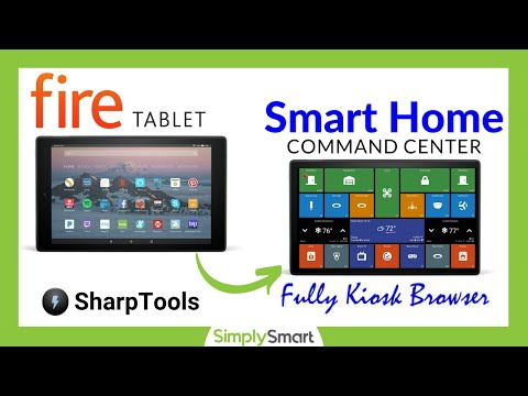Fully Kiosk Browser On Amazon Fire Tablet & SharpTools Dashboard