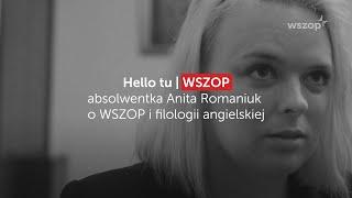 absolwentka Anita Romaniuk o WSZOP i filologii angielskiej