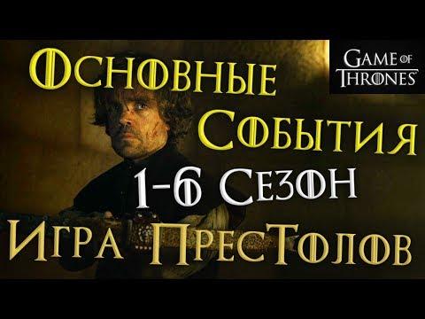 ОСНОВНЫЕ СОБЫТИЯ предыдущих сезонов Игры престолов!