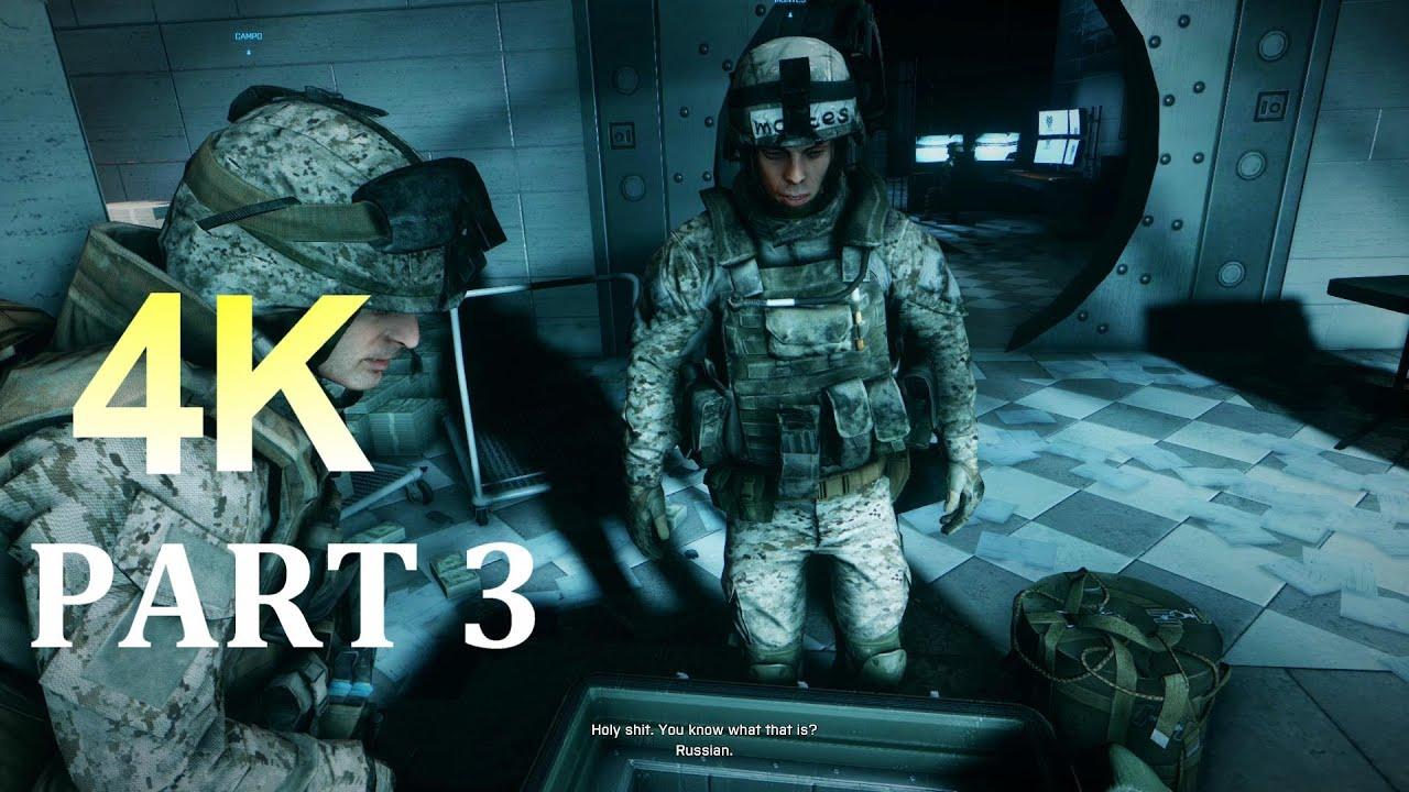 Battlefield 3: Walkthrough - Part 1 [Mission 2: Operation Guillotine in Iran 4K (BF3 Gameplay) PC