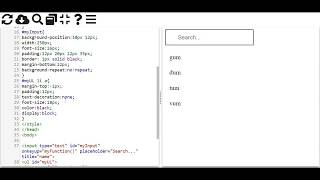 Search Filter in HTML CSS And pure Javascript