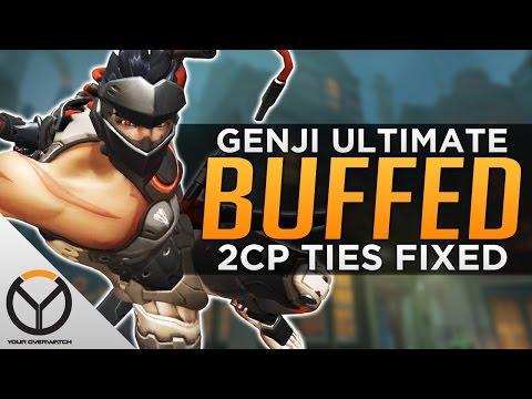 Overwatch: Genji Ultimate BUFFED! - 2CP Ties FIXED!