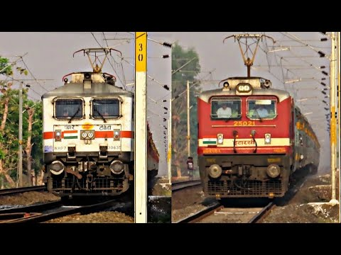 Heavy Rail Traffic On Itarsi Allahabad Section - Here Electric Monster Rules || Indian Railways..