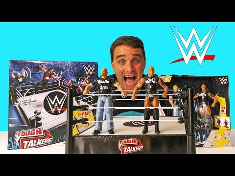 WWE Championship Ring Playset Tough Talkers Kids Sounds Fun Cages Entrance Music