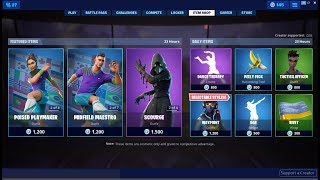 Soccer Skins Are Back Again! Fortnite Item Shop July 10, 2019