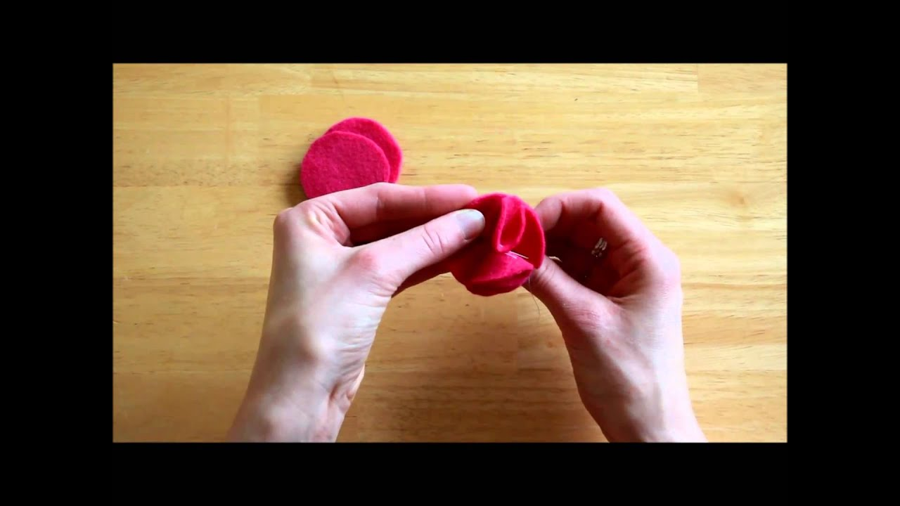 How to make felt flower pins or brooch youtube how to make felt flower pins or brooch baditri Image collections