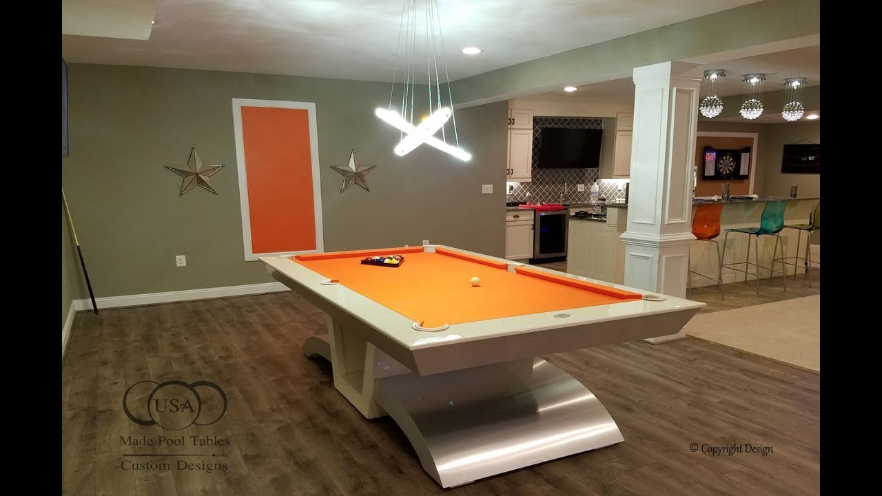 Infinity Modern Pool Table White