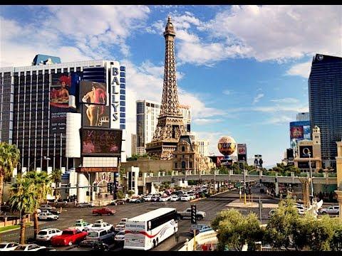 Walking on Las Vegas Strip Daytime in 4K