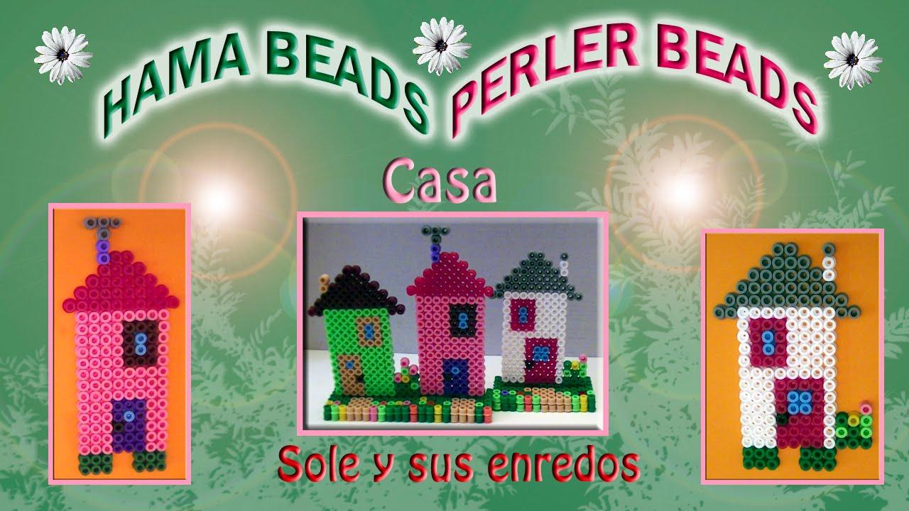 C mo hacer una casa con hama beads youtube - Ofertas de trabajos manuales para hacer en casa ...