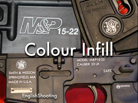 How to Colour Fill Gun Logos with Nail Polish