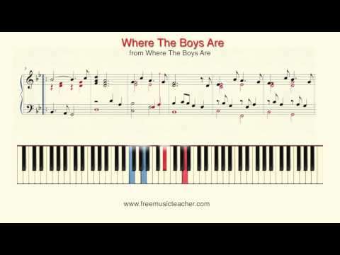 "How To Play Piano: ""Where The Boys Are"" Piano Tutorial by Ramin Yousefi"