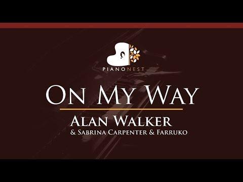 alan-walker,-sabrina-carpenter-&-farruko---on-my-way---higher-key-(piano-karaoke-/-sing-along)