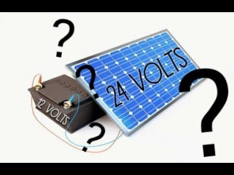 Can I Connect A 12v Battery To A 24v Solar Panel How Does An Mppt Work Youtube