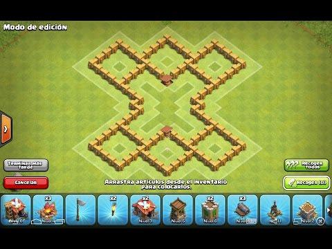 La Mejor Aldea Defensiva/farming De Ayuntamiento 5 !!!!! Clash Of Clans