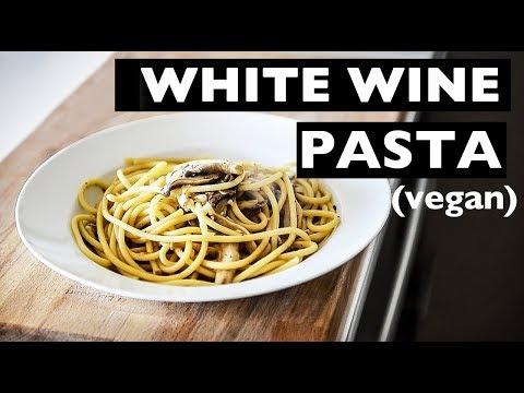 WHITE WINE PASTA VEGAN RECIPE   5 INGREDIENT BIANCO PASTA