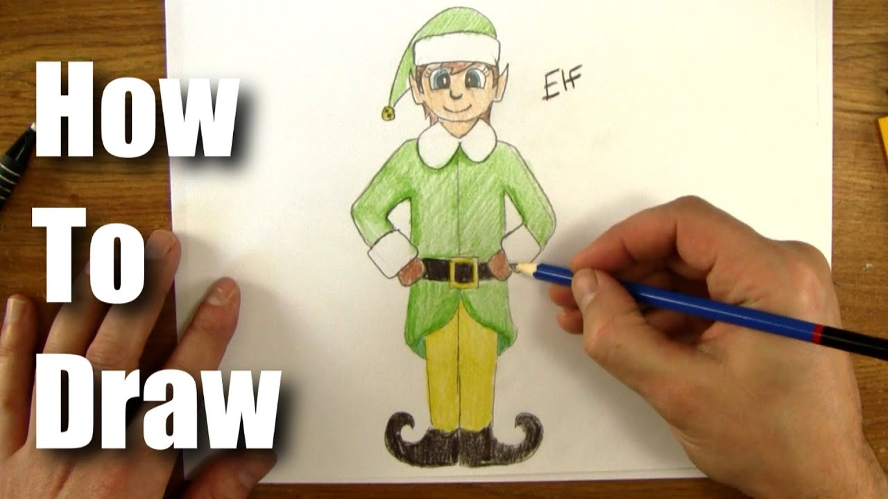 how to draw a christmas elf youtube