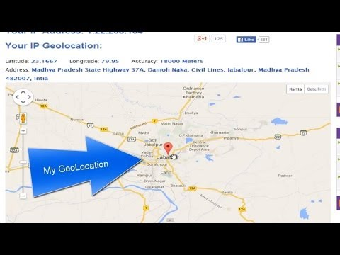 how to find ip address and geolocation?