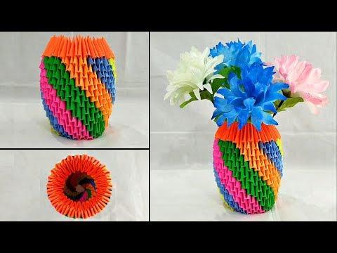 DIY Flower Vase / Easy Beautiful Flower Vase Making / Home Decoration Idea