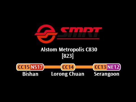 SMRT C830 [823]: Bishan → Serangoon (» Dhoby Ghaut)