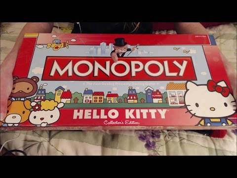 ASMR Hello Kitty Monopoly Unboxing - Box Tapping, Scratching, Whispering, & Other Assorted Sounds!